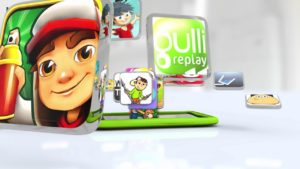 Image montrant certaines applications pré-enregistrées dans la Gulli V3.
